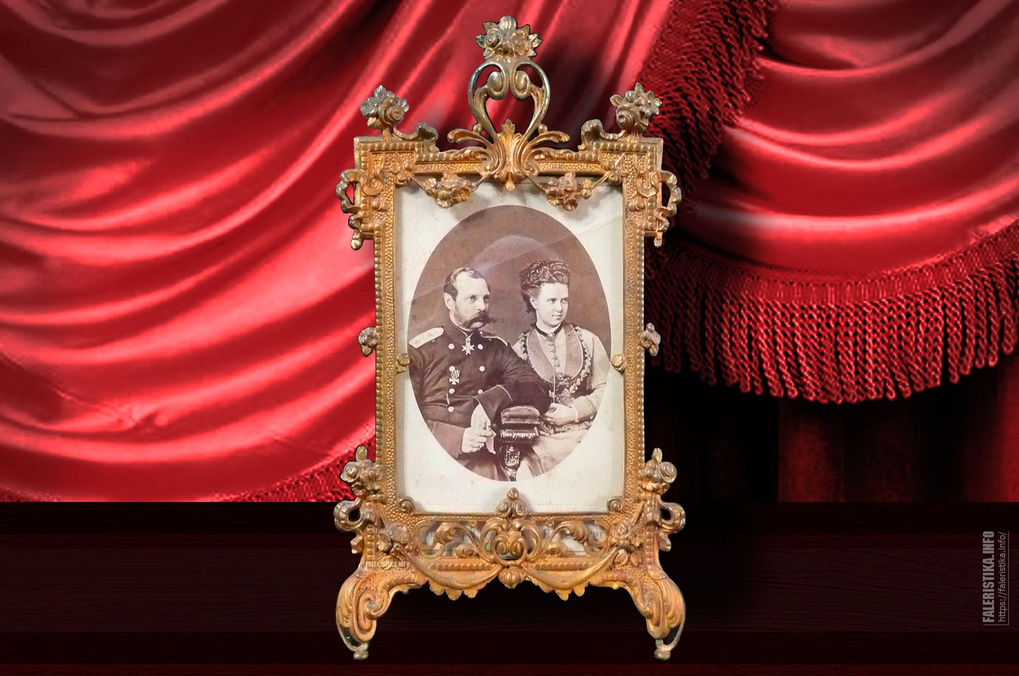Император Александр II и его дочь — великая княгиня Мария Александровна. 1873 год