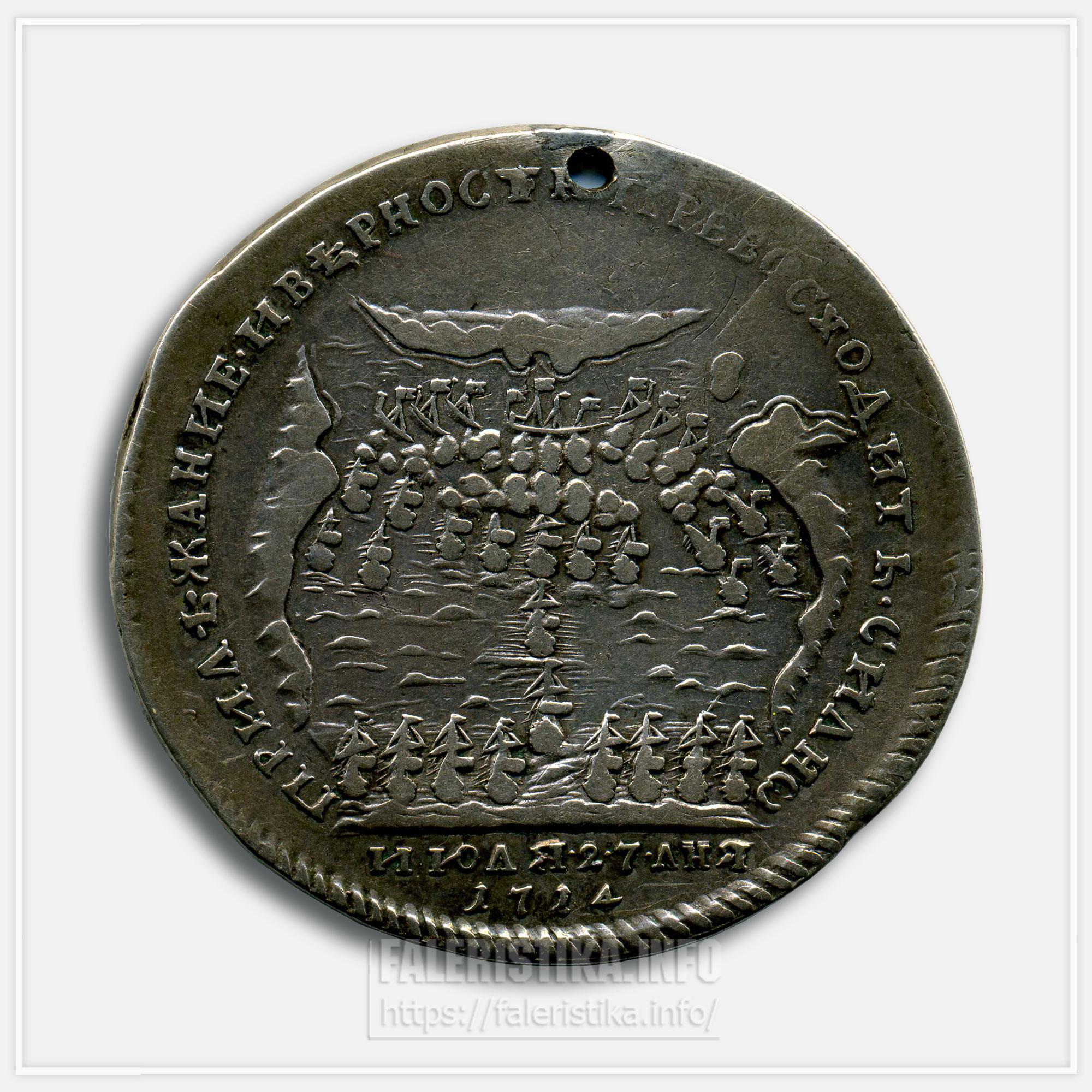 Медаль «За победу при Гангуте» 1714