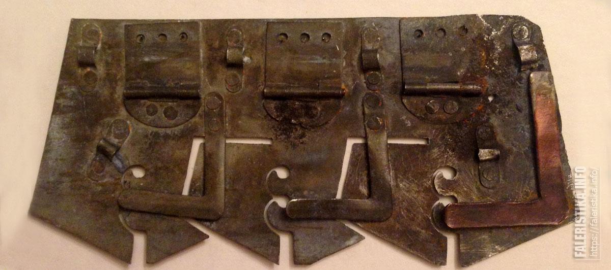 Колодка для медали тройная (производитель В.И. Новиков, патент 13789)