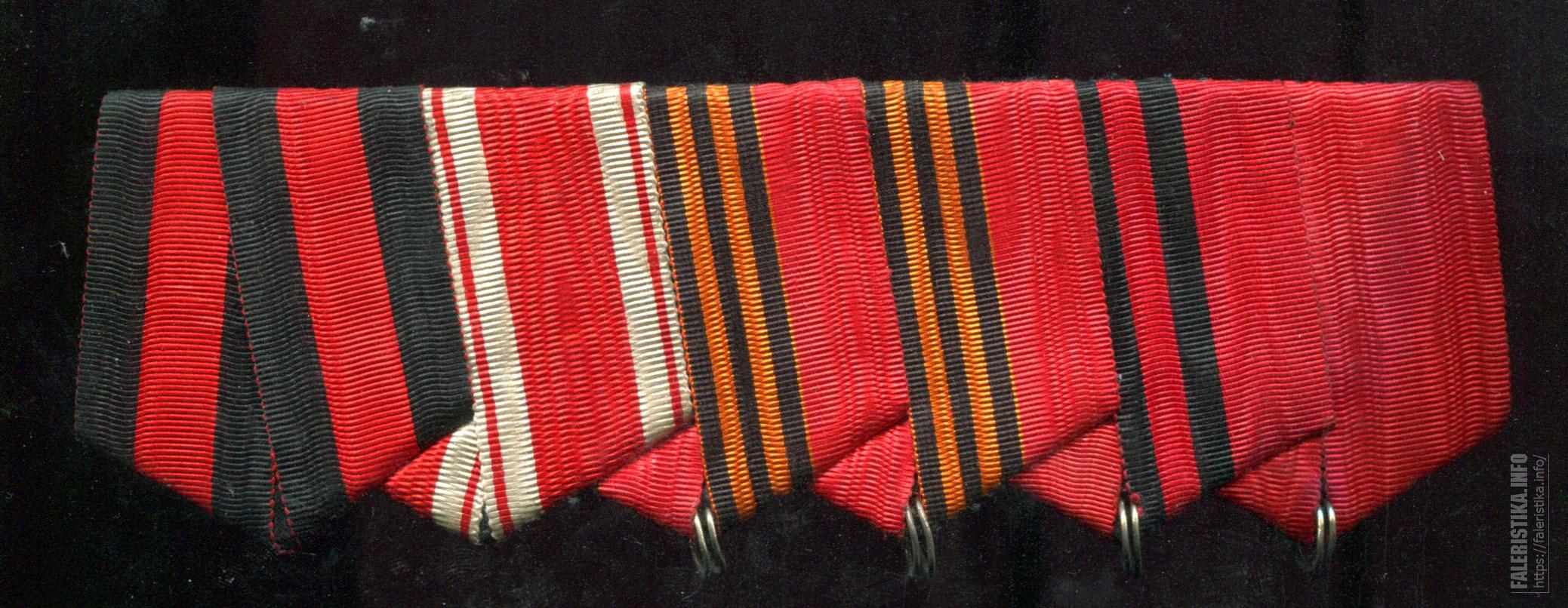 Колодка для медали шестерная (на шесть наград)