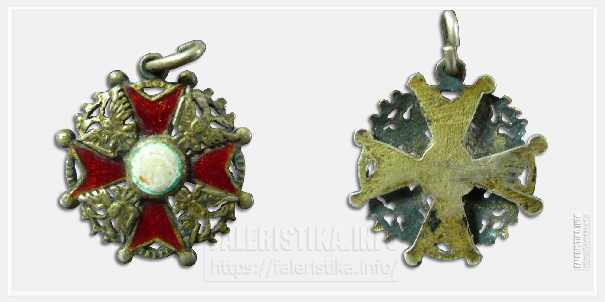 Знак ордена Святого Станислава Миниатюра (фрачник)
